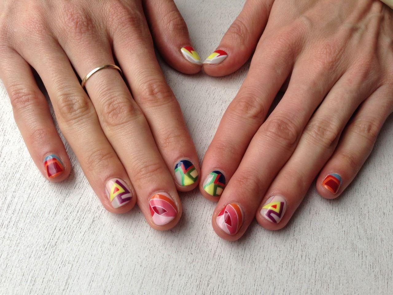 FRANK STELLA inspired nail art history   Sartle: Art History Nail ...