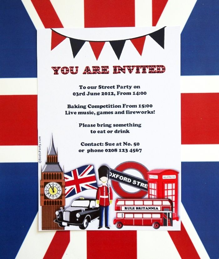 London themed invitations google search london themed for Decoration theme angleterre