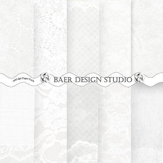 WHITE LACE Digital PAPER: White Digital Paper #digitalpaper #digitalscrapbookpaper #whitelacepaper #lacepaper #digitallacepaper #etsy #baerdesignstudio #dentelle
