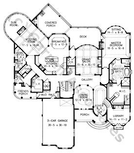 Mountain Castle Style House Plan - The Hemingway | House Plans by ...