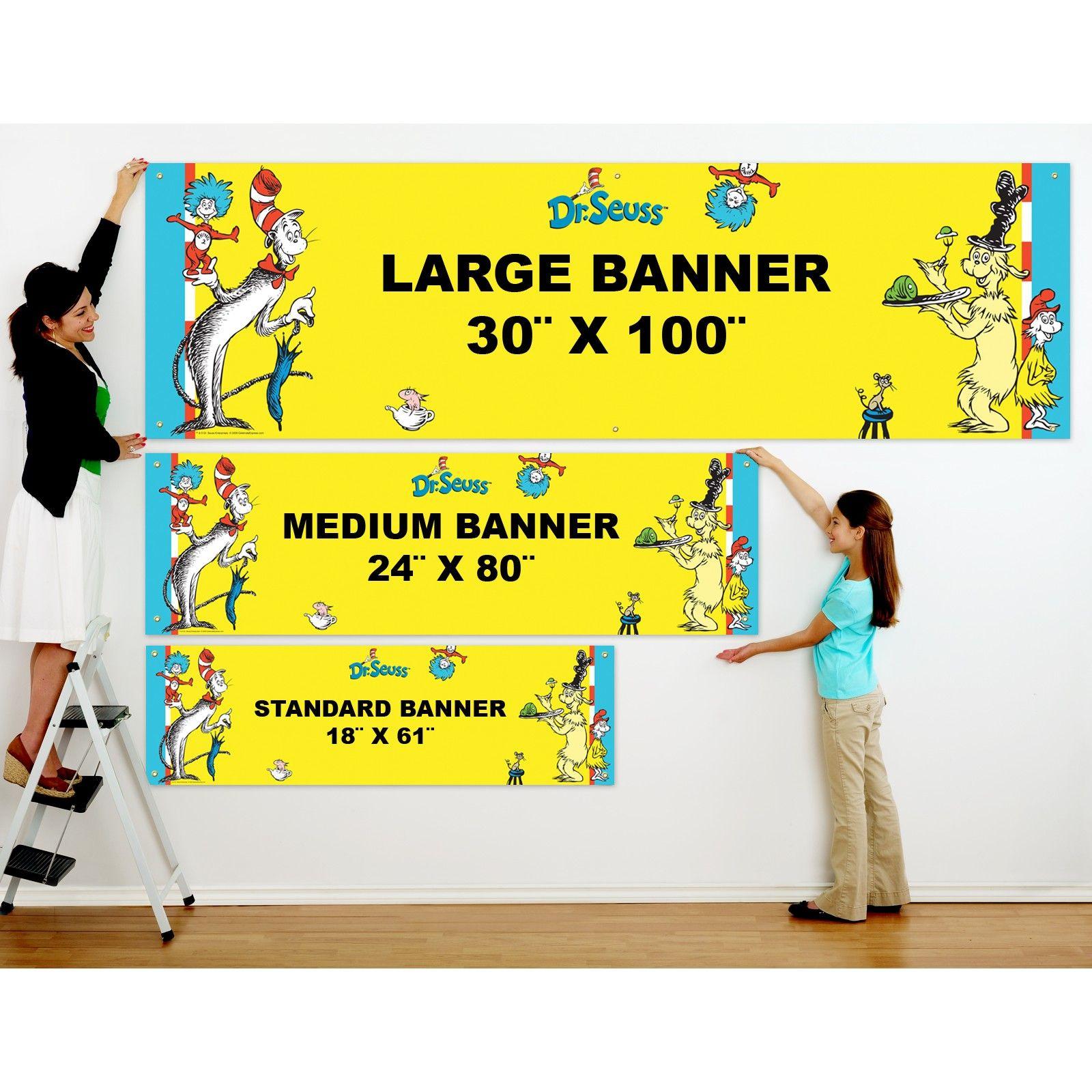 Dr Seuss Personalized Vinyl Banner Personalized Birthday Banners Personalized Banners Vinyl Banners