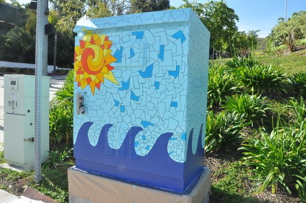 Street Art Utility Box Paintings Are Underway is part of Street art, Box art, Mural art, Best street art, Utility box, Art - Five artists are turning five utility boxes around town into canvases for citysponsored street art