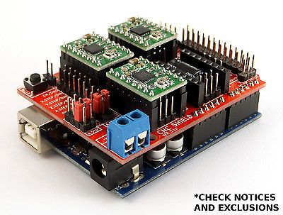 Arduino CNC Shield V3 10 - GRBL v0 9 compatible - Uses Pololu