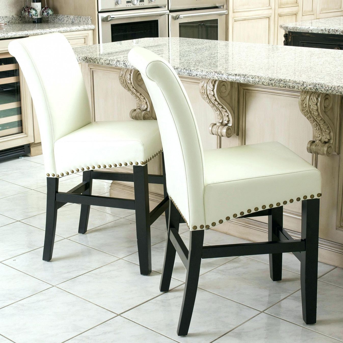 55 Ivory Leather Dining Room Chairs  Modern Rustic Furniture Mesmerizing Ivory Leather Dining Room Chairs Design Ideas