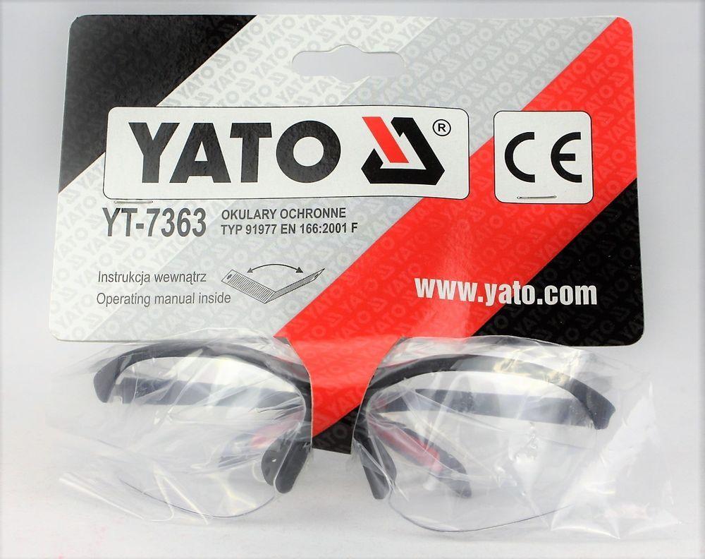 Baugewerbe Schutzbrille Arbeitsschutzbrille Augenschutz Verstellbar Brille Sehschutz Yato