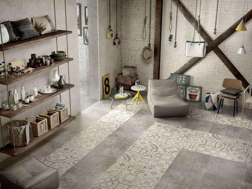 Pavimenti in cementine nel docce pavimenti