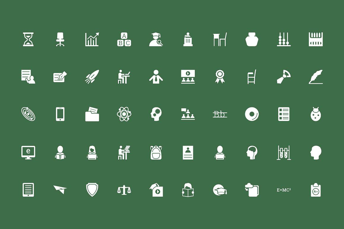 125  Education Vector Icons – Vol 2 #magazines#campus#promotional#advertising