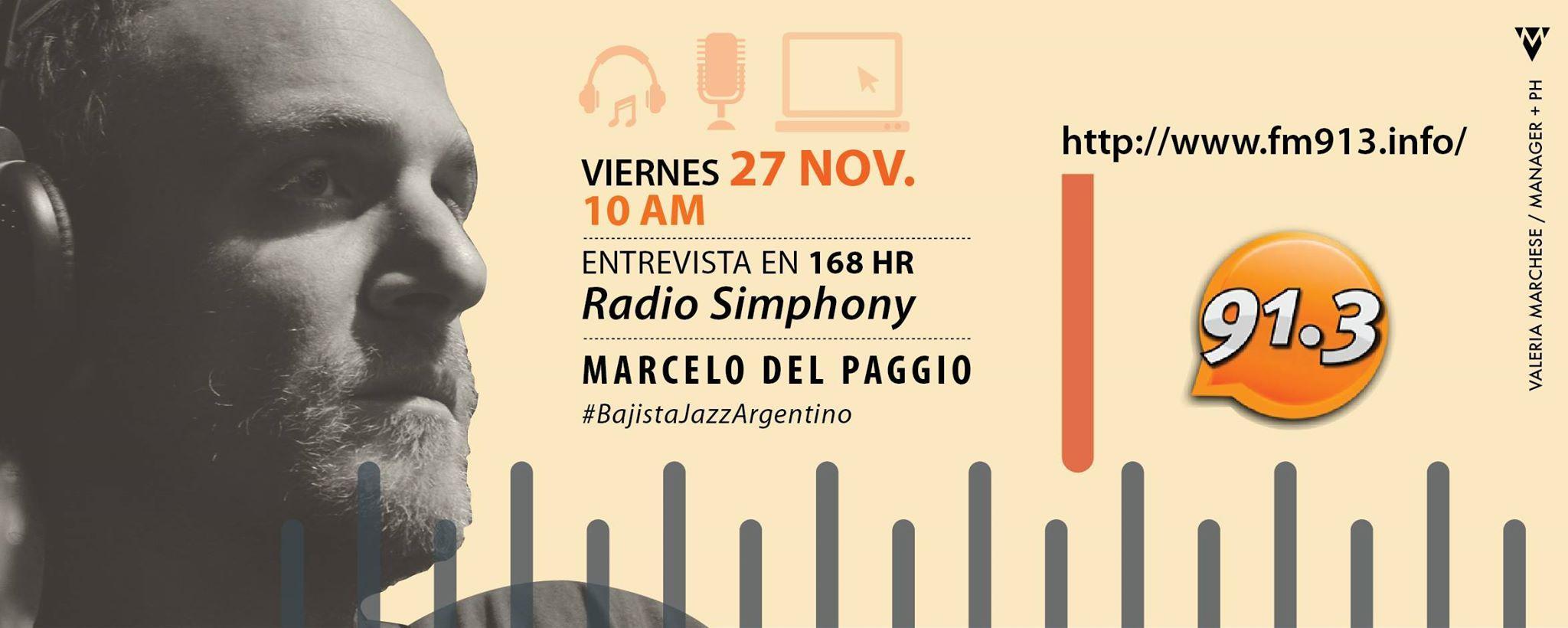 Radio Simphony - San Isidro Marcelo Del Paggio  Noviembre 2015