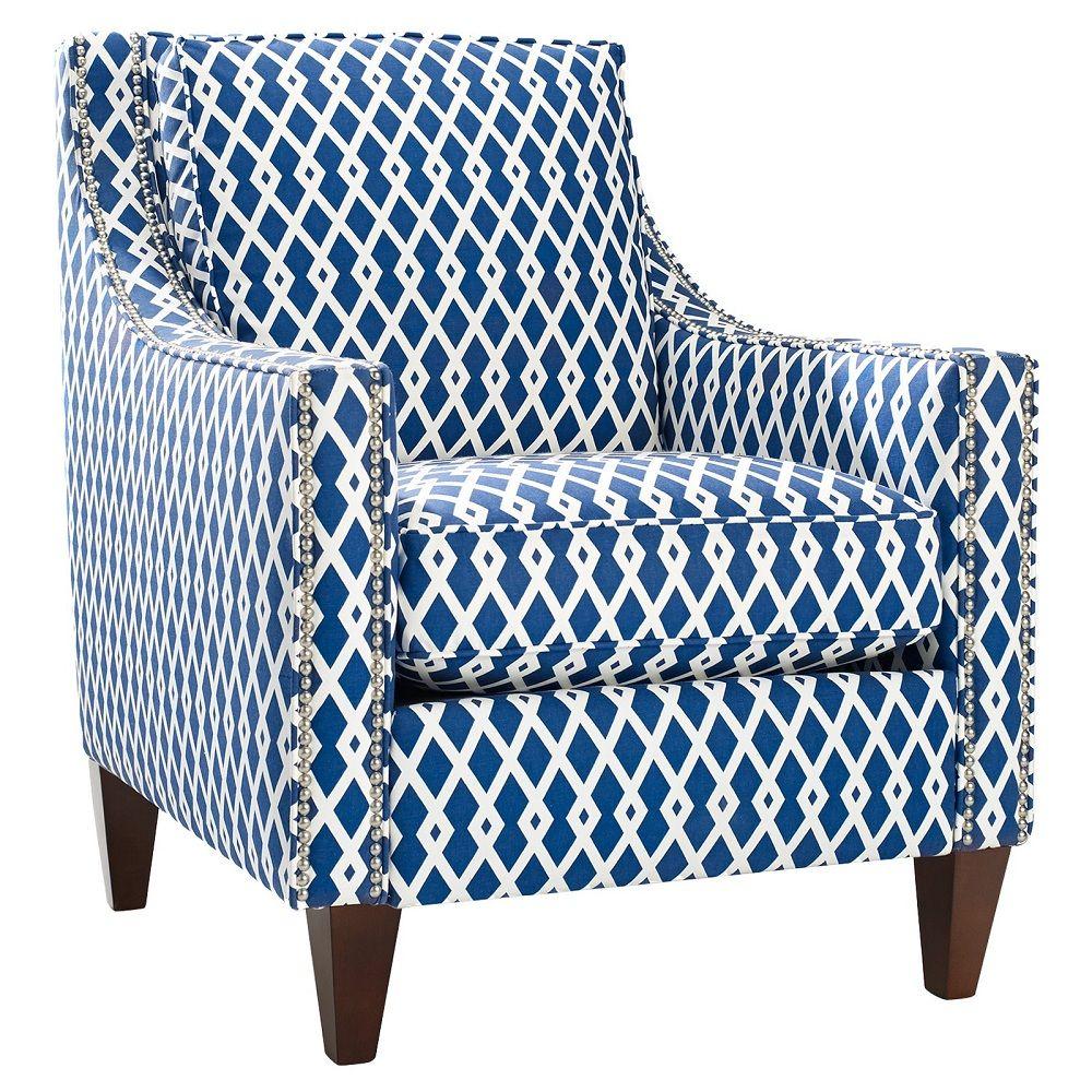 Navy Blue Accent Chair Akzentstuhle Haus Deko Minimalistische Wohnzimmer