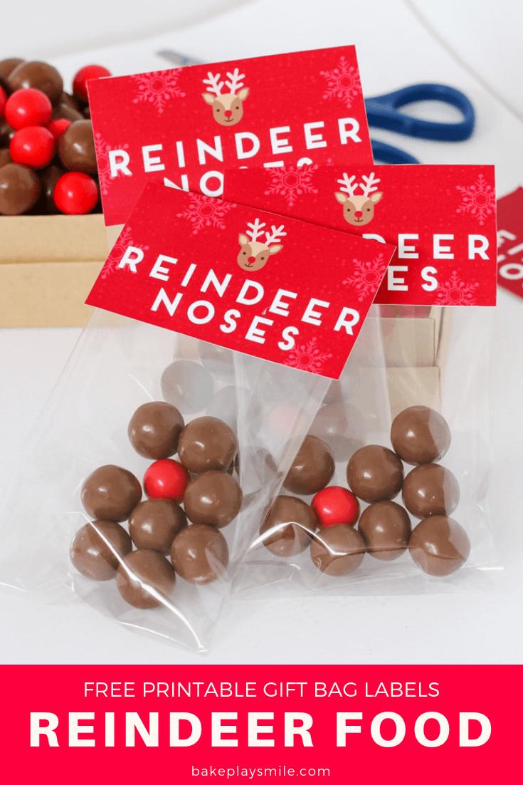 Reindeer Noses - Free Christmas Printable Gift Bag | Christmas ...