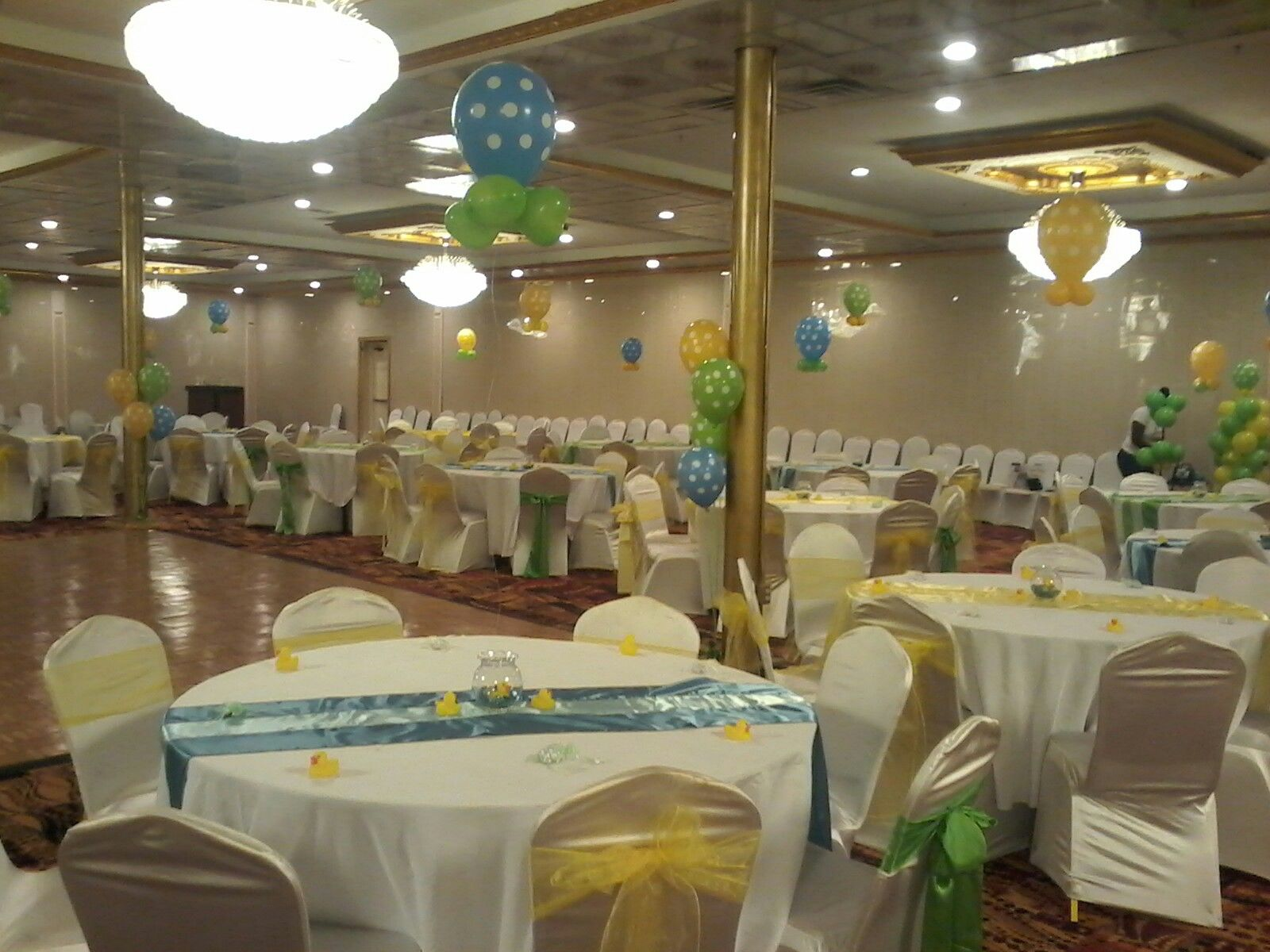 Clinton S Baby Shower Decorations ~ Yellow lime green and blue baby shower sheila moody s balloons