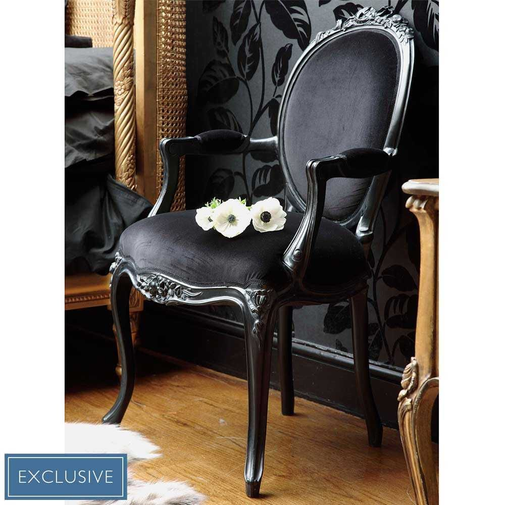 Sassy Boo Boudoir Lady\'s Black Velvet Chair | ACCENT CHAIR ...