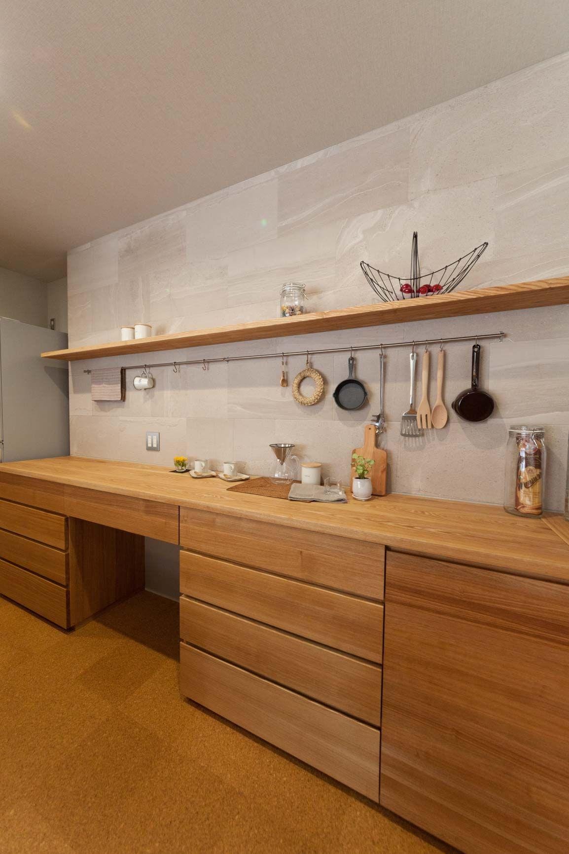 新産住拓のモデルハウス 熊本の新築一戸建て注文住宅 リビング キッチン キッチンデザイン キッチン間取り