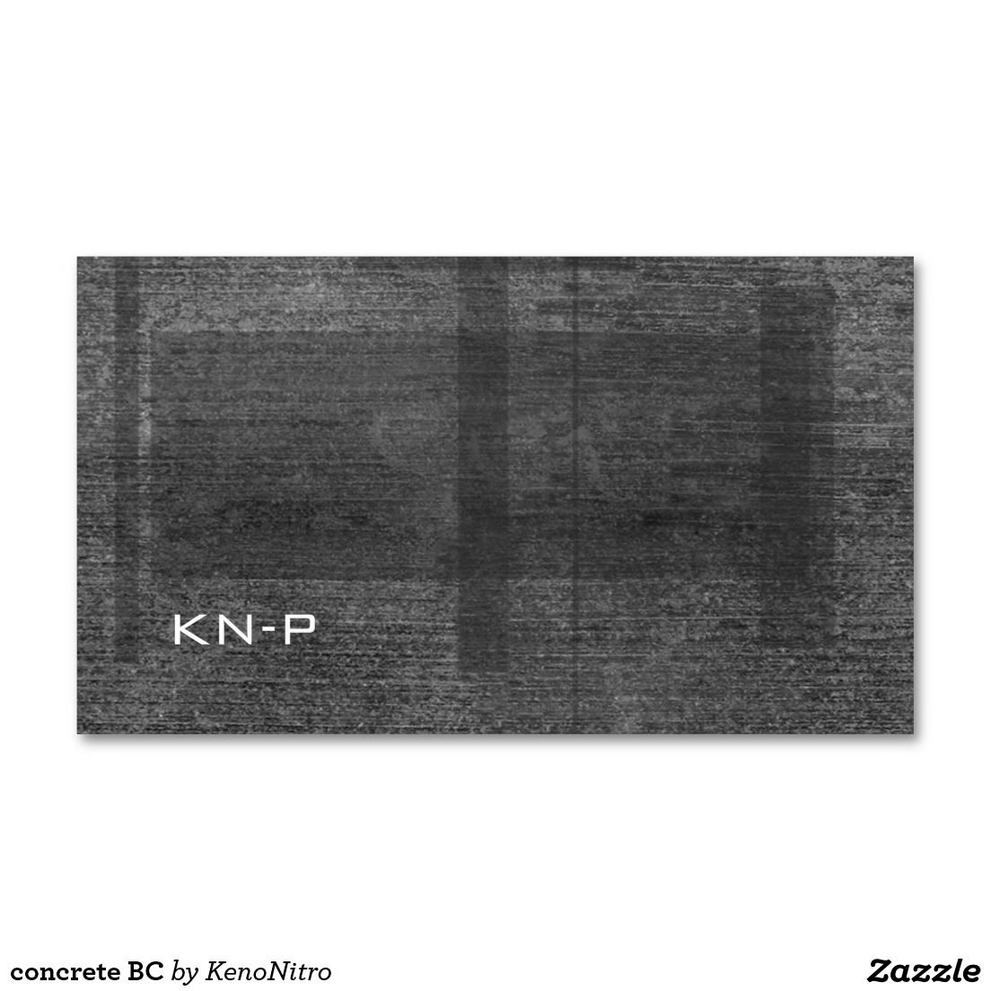 concrete BC Double-Sided Standard Business Cards (Pack Of 100 ...