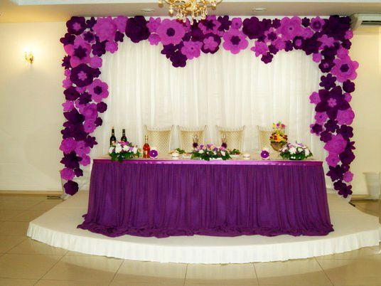 Decoraci n para eventos con flores de papel ideas para for Decoracion con plantas para fiestas