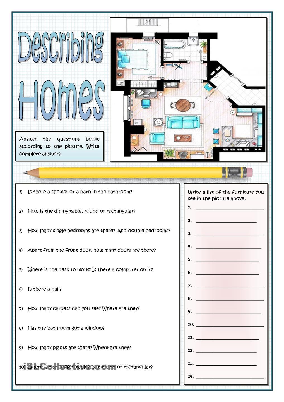DESCRIBING HOMES | English worksheets | Pinterest ...