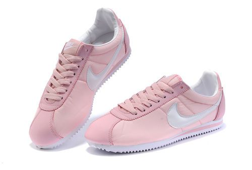 Cheap Nike Cortez Women Nylon Shoes Pink White Cheap Online