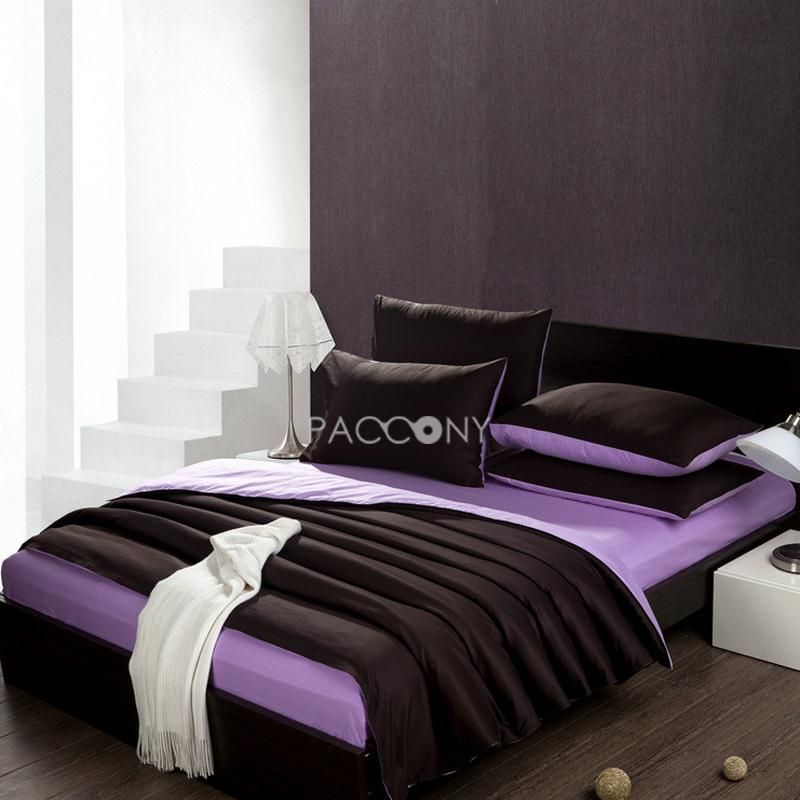 Cheap Bedding Sets Online To Buy Solid Coffee Lavender Cotton 4