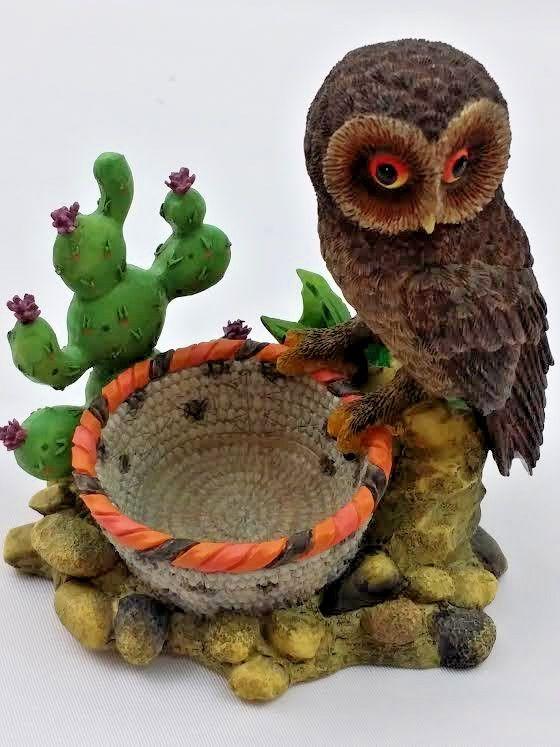 Your Big Backyard Part - 28: Desert Watch Owl Owls In Your Big Backyard Figurine Collection 1999 Cactus