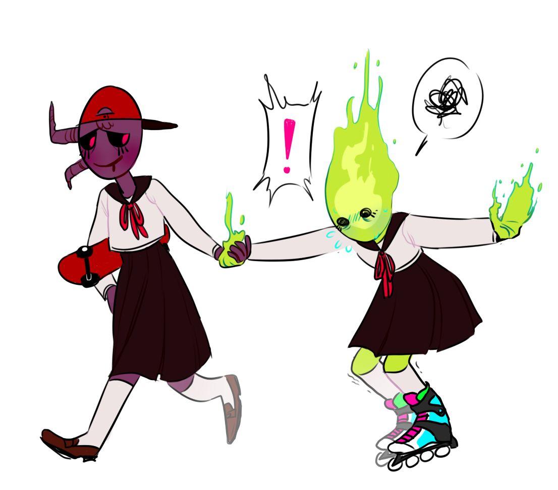 Fuku Fire & Skateboard Girl