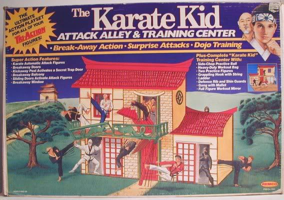 The Karate Kid Attack Alley and Training Center playset, from Remco in 1986