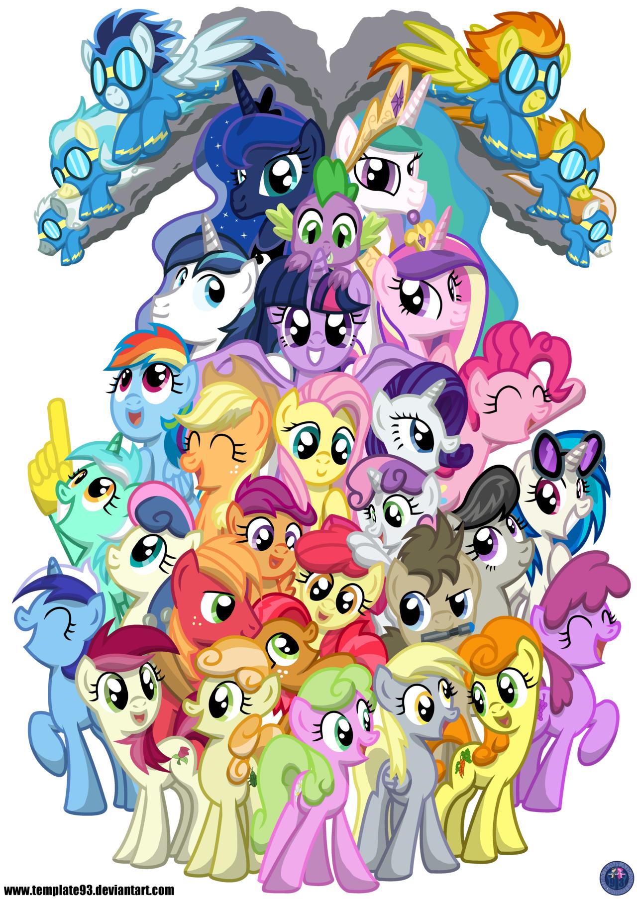 Mega Pony Shirt Design By Template93deviantart On DeviantArt