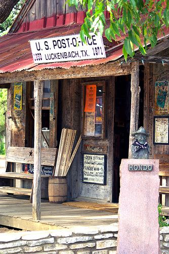 Luckenbach TX USA Post Office And Bar