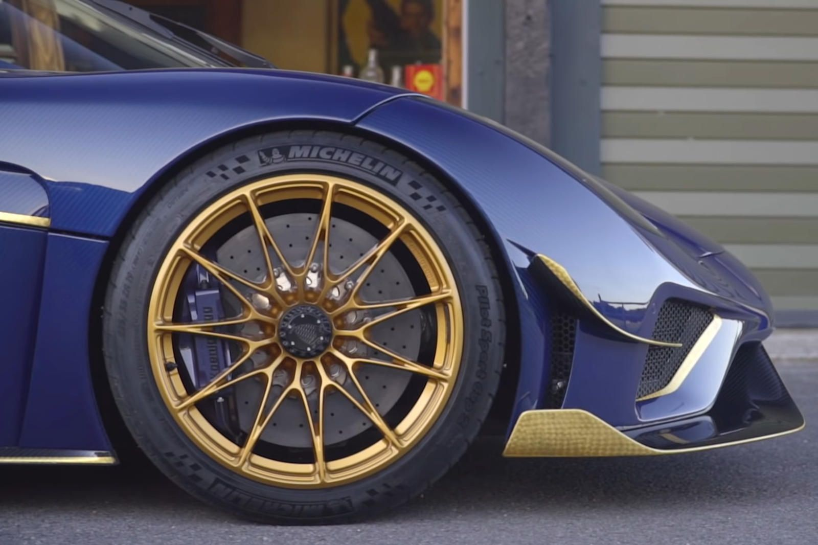 This Custom Koenigsegg Regera Took Three Years To Build. This is also the first Koenigsegg Regera to ride on gold wheels.