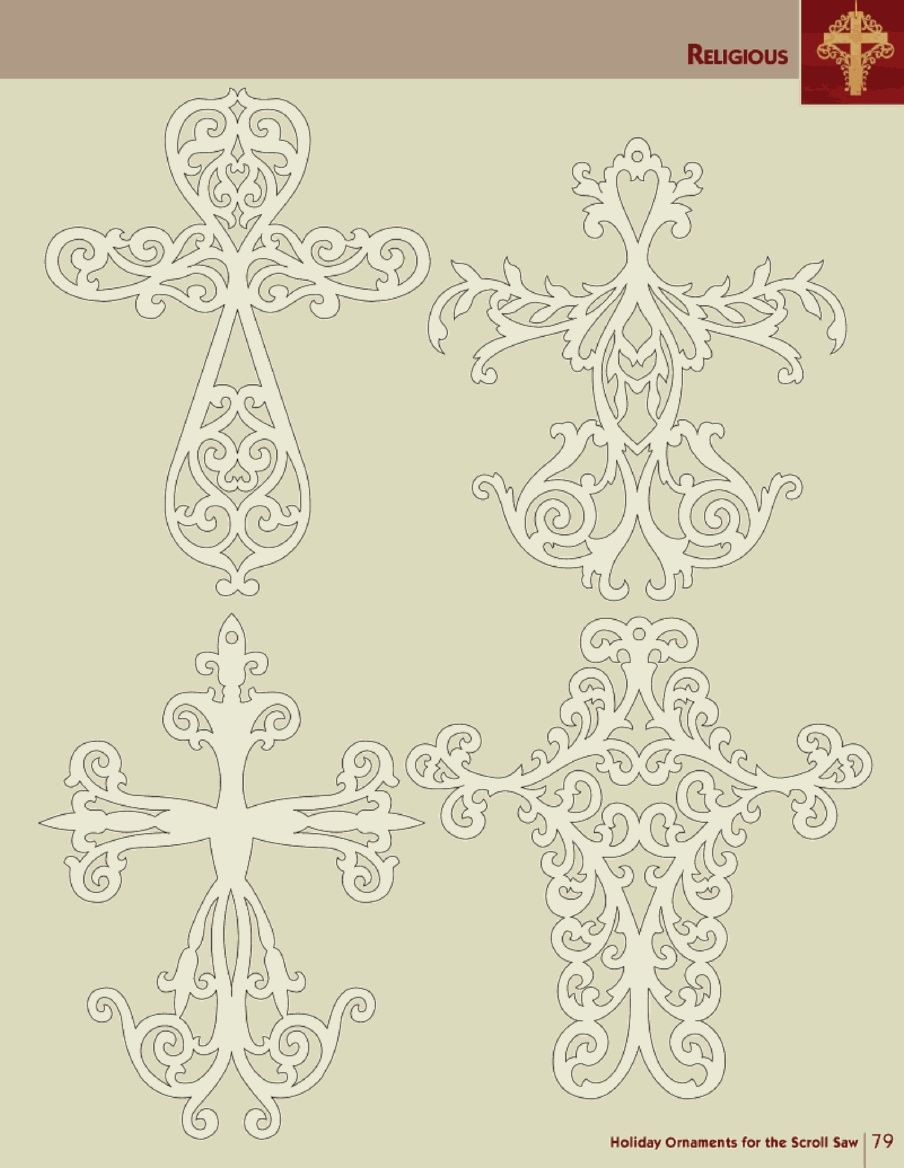 Holiday Ornaments for the Scroll Saw | Laubsäge 2 | Pinterest ...