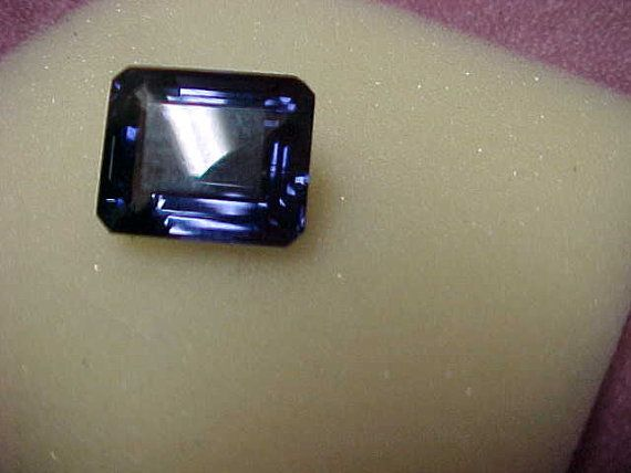 Vintage Iolite (Water Sapphire), Flawless Solitaire Loose Gemstone, 22.51 Carat, Emerald Cut, 19MM x 16MM