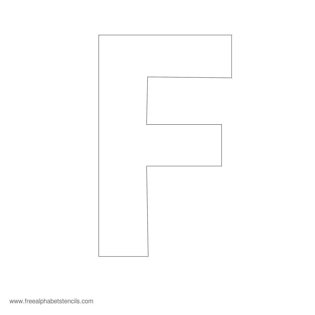 large alphabet stencil f tag sale pinterest With large letter stencils for sale
