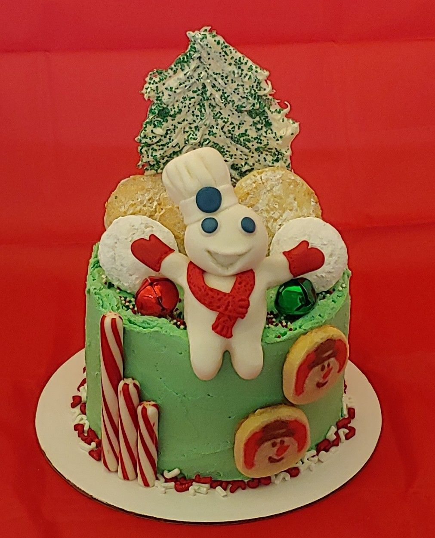 Pillsbury Dough Boy Christmas Cookie Cake By Cakesbydoublemint2 My