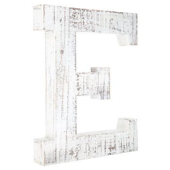 Whitewashed Wood Letter Wall Decor E Wood Letter Wall Decor Alphabet Wall Decor Letter Wall Decor