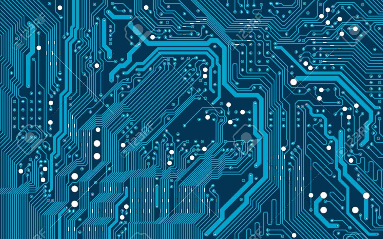 Vector blue electronic circuit board background ,