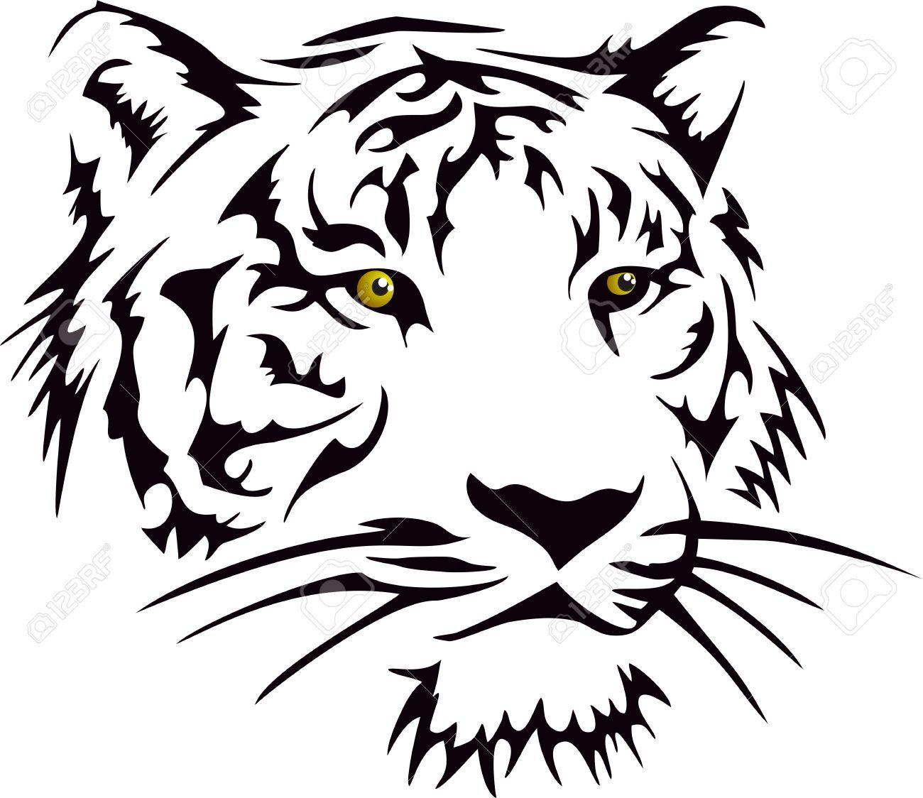 Cabeza Del Tigre Tigre Tribal Tatuaje De Tigres Cara De Tigre
