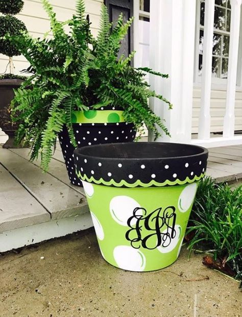 Pin By Cindy Pizzino On Yard Ideas Painted Flower Pots Diy Flower Pots Flower Pot Crafts