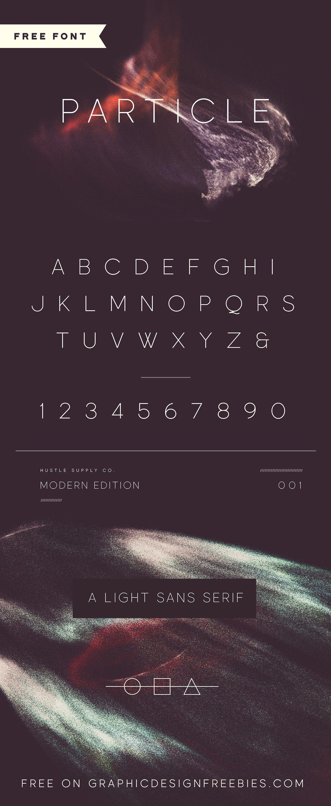 Particle Free Font By Jeremy Vessey Font Freebie Graphic Design Freebies Graphic Design Fonts Design Freebie