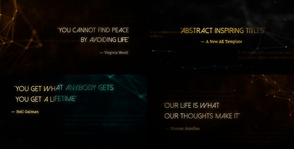 Abstract Inspiring Titles (Abstract) #Envato #Videohive #aftereffects