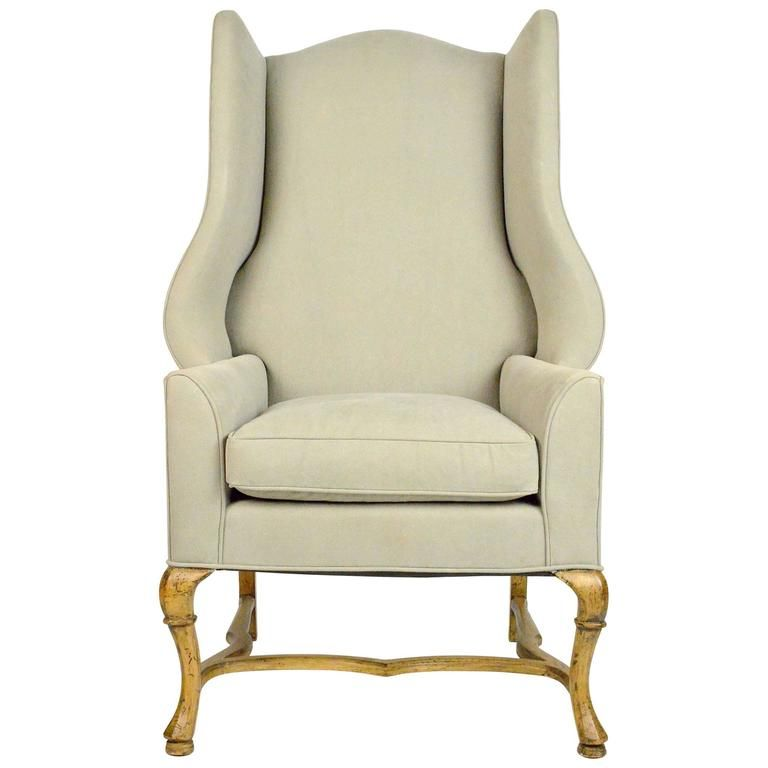 Large-Scale French Country Style Wingback Chair French country