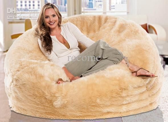 Cheap Bean Bag Chair Buy Quality Fur Beanbag Directly From China Suppliers Large Lemon Or White Cream Shaggy Faux Long Cover