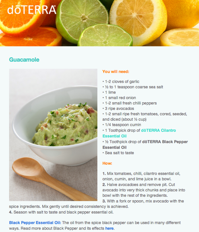 Cooking with essential oils doterra delicious pinterest guacamole with doterra cilantro essential oil forumfinder Images
