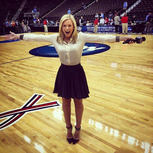 Jamie Erdahl is a reporter for CBS Sports | Jamie erdahl, Cheer skirts,  Muscle women