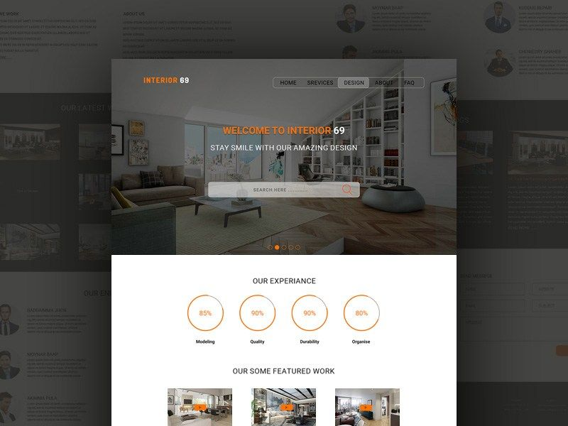 Interior69 : Interior Design Service PSD Template | Freebies ...