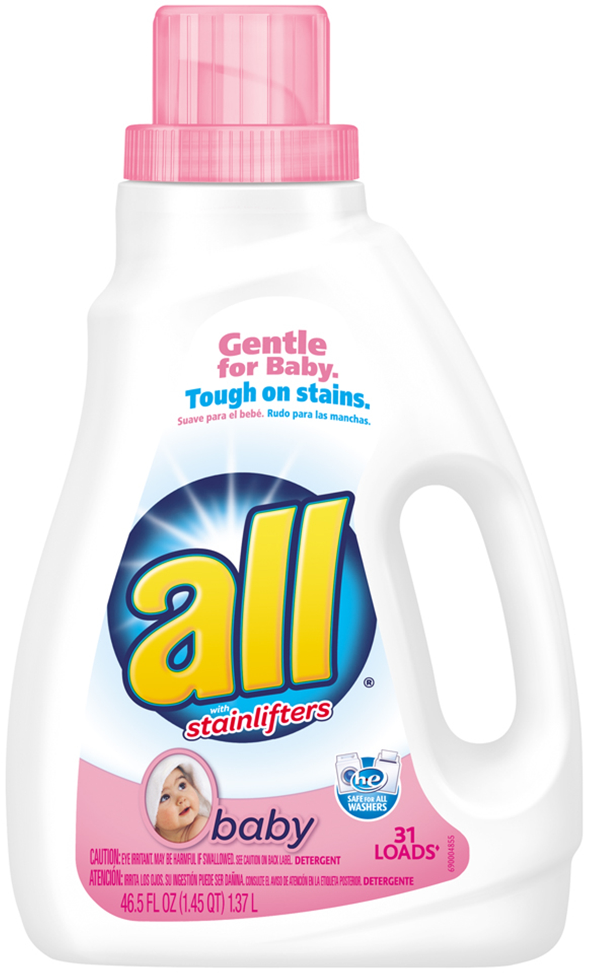 All Baby Liquid Laundry Detergent W Stainlifters 46 5 Oz 31 Loads