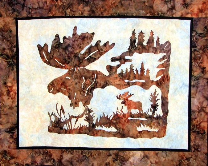 wild quilt patterns | Wildlife & Western Quilting Patterns From ... : moose quilt pattern - Adamdwight.com