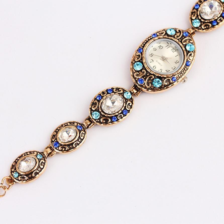 >> Click to Buy << montre WristWatch femme Diamond Metal Women Watches Shine Retro Oval Bracelet  jun5 #Affiliate