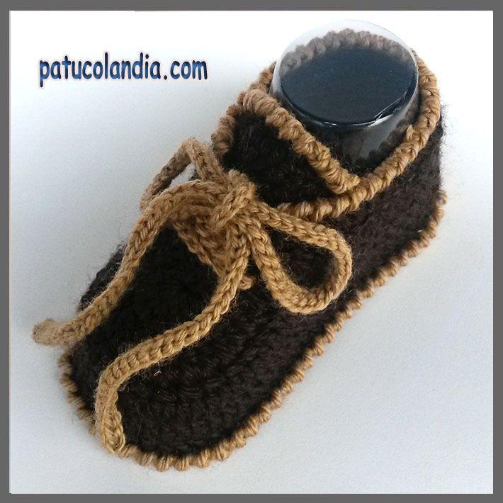 Zapato de ganchillo, para bebés hechos a mano, 60% Lana 40% Acrílico ...
