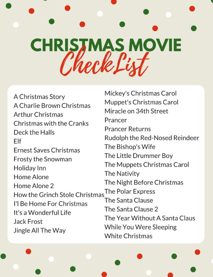 The Complete Family Christmas Movie List #movietimes