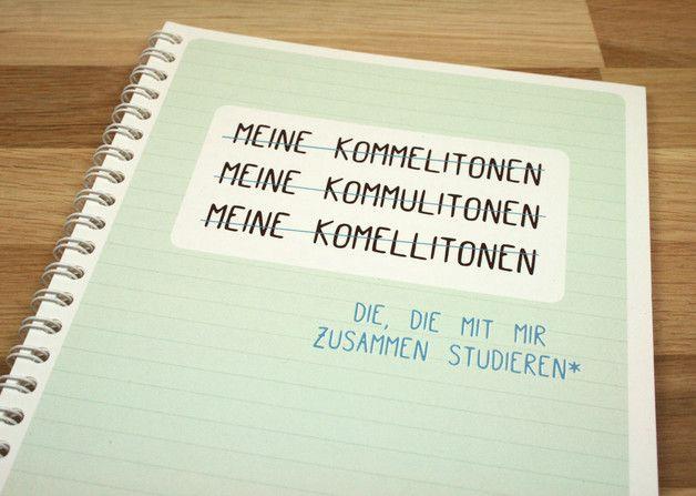 Poesiealben - Meine Kommilitonen. Ein Freundebuch für die Uni ...