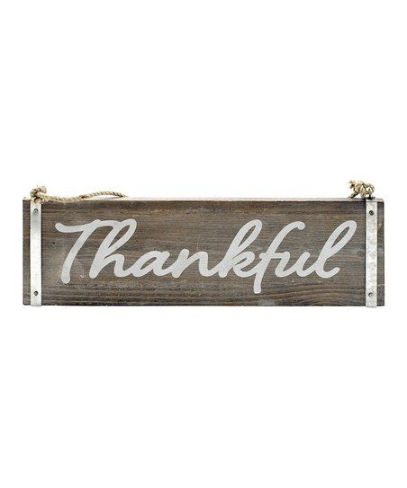 Word Wall Decor Plaques Signs Awesome Thankful Wood Wall Sign  Zulily  Word Wall Decor  Pinterest Design Inspiration